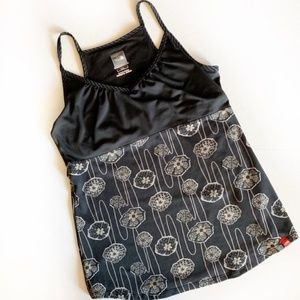 Black Floral Athletic Tank by The North Face - M